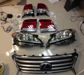 Комплект рестайлинга Lexus LX 570 2008+ в Lexus 570 2014+