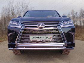 Защита переднего бампера 60х50 мм для Lexus LX 2015 -