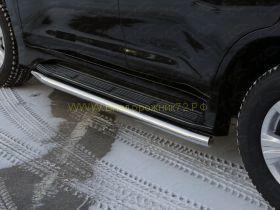 Защита штатного порога 60 мм для Lexus LX 2015-