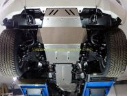 Защита Картера, КПП, Раздатки (Алюминий 4 мм) для Lexus LX