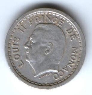 1 франк 1943 г. Монако