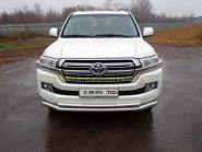 Защита переднего бампера  76х50 мм для Toyota Land Cruiser 200 2015 -