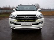 Защита переднего бампера  76х60 мм для Toyota Land Cruiser 200 2015 -