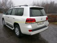 Защита заднего бампера 75х42 мм для Toyota Land Cruiser 200 2015 -