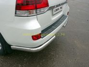 Накладка на задний бампер (Тип 2) для Toyota Land Cruiser 200