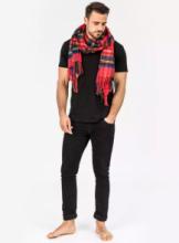 Роскошный экстра-большой шотландский  шарф, высокая плотность, 100 % драгоценный кашемир , Тартан Стюарт Королевский (премиум)