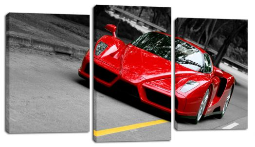 Модульная картина Красный спорткар