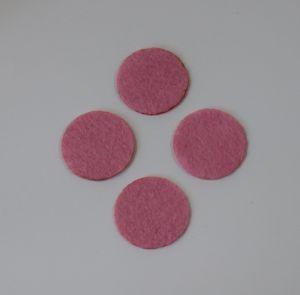 Фетровые пяточки 25мм, цвет № 02 розовый