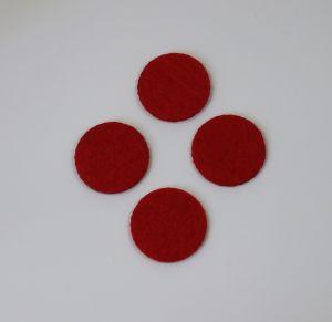 Фетровые пяточки 25мм, цвет № 06 красный