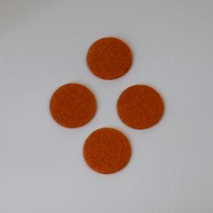 Фетровые пяточки 25мм, цвет № 16 оранжевый