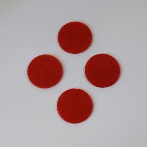 Фетровые пяточки 25мм, цвет № 19 алый