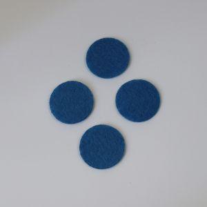 Фетровые пяточки 25мм, цвет № 23 светло-синий
