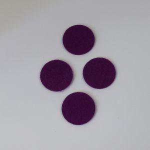 Фетровые пяточки 25мм, цвет № 27 темно-фиолетовый