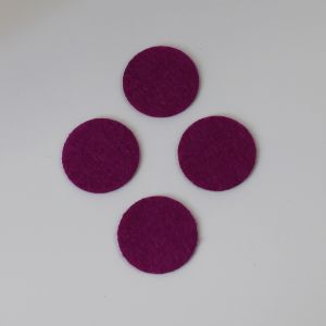 Фетровые пяточки 25мм, цвет № 30 ярко-фиолетовый