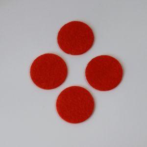 Фетровые пяточки 30мм, цвет № 18 кислотно-оранжевый