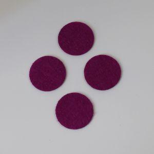 Фетровые пяточки 30мм, цвет № 30 ярко-фиолетовый