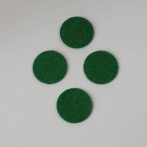 Фетровые пяточки 30мм, цвет № 48 зеленый