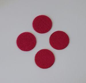 Фетровые пяточки 35мм, цвет № 03 ярко-розовый