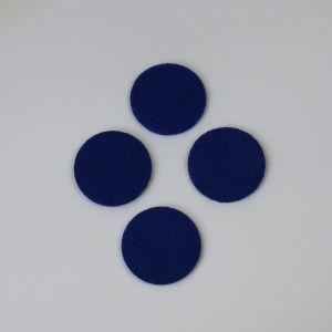 Фетровые пяточки 35мм, цвет № 21 темно-синий
