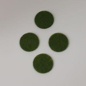 Фетровые пяточки 35мм, цвет № 47 оливковый