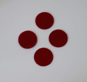 Фетровые пяточки 40мм, цвет № 07 темно-красный
