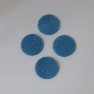 Фетровые пяточки 40мм, цвет № 24 голубой