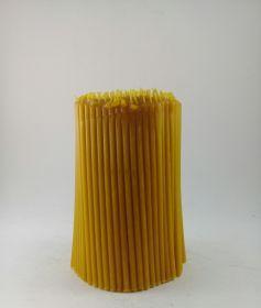 Свечи церковные восковые № 100, 1 кг. Длина 16,5 см, диаметр 5,5 мм. 250 штук/пачка