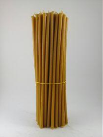 Свечи церковные восковые № 20, 1 кг. Длина 30 см, диаметр 9,5 мм. 50 штук/пачка