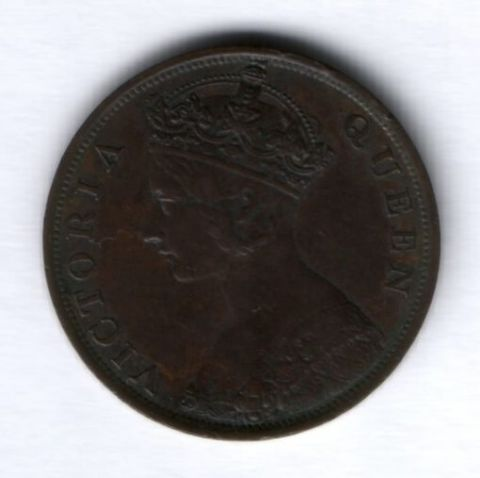 1 цент 1877 г. Гонконг