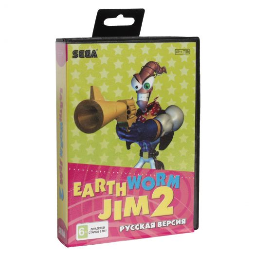 Sega картридж EARTHWORM JIM 2