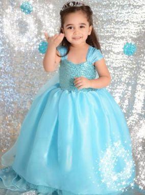 Костюм платье Эльзы Холодное сердце 100 см
