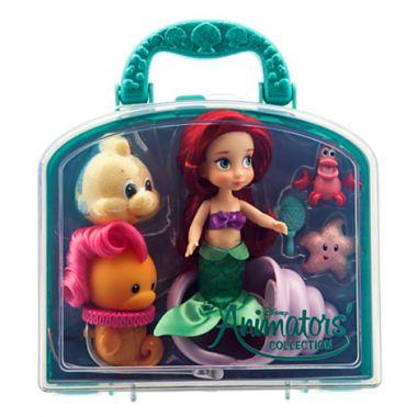 Игровой набор мини куклы аниматоры русалочка Ариель с аксессуарами Дисней