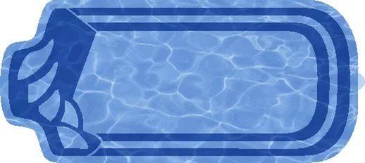 Композитный бассейн Изабель 6,58х2,8х1,48 м