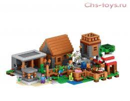 Конструктор LELE Майнкрафт «Деревня» 79288 (Реплика Lego Minecraft 21128) 1106 дет.
