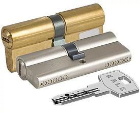 Цилиндровый механизм ключ-ключ KALE 164 BN/62  латунь 26+10+26