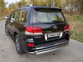 Защита заднего бампера 75х42 мм для Lexus LX Sport 2013-