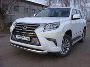 Защита переднего бампера 75х42 мм для Lexus GX 2013 -