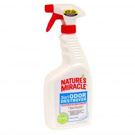 8in1 Nature's Miracle 3in1 Odor Destroyer Fresh Linen Уничтожитель запахов 3 в 1 с запахом свежего белья (спрей 709 мл)