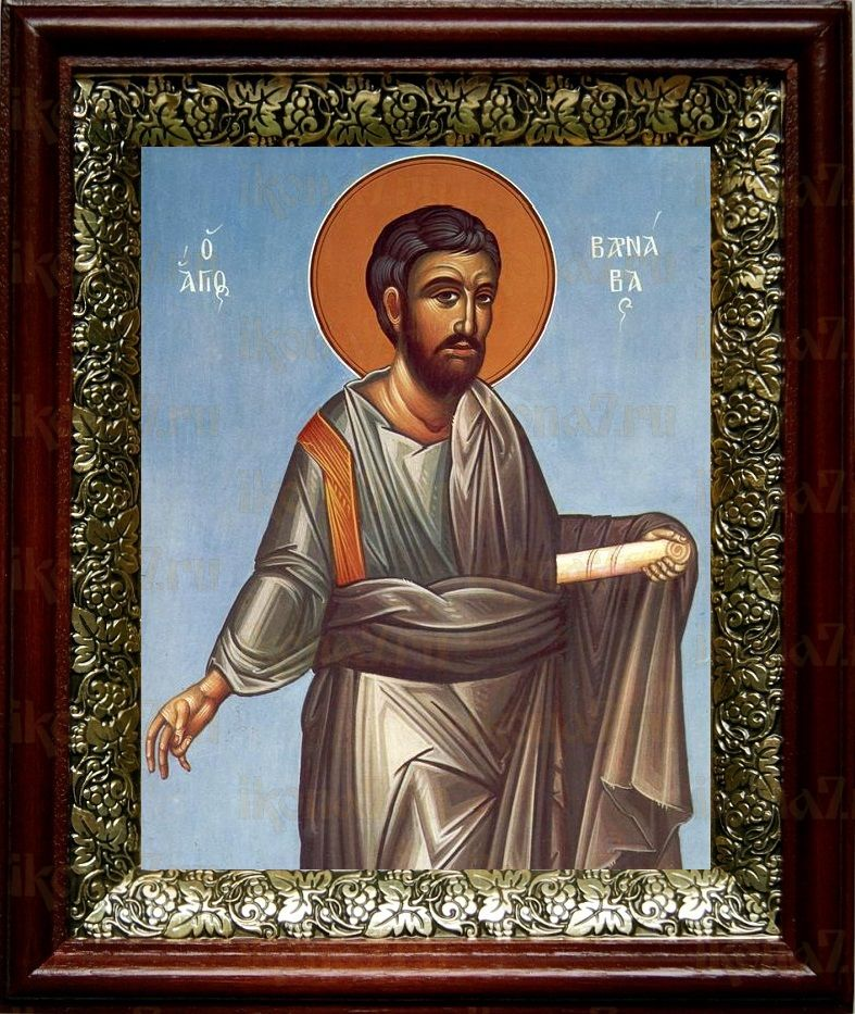 Варнава, апостол от 70-ти (19х22), темный киот