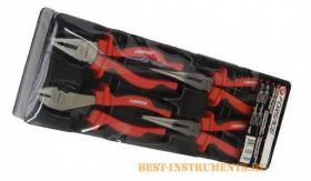 5046 Набор шарнирно-губцевого инструмента Forsage, 4 предмета в лотке