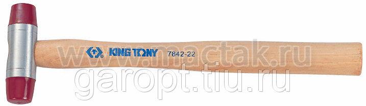 Киянка 60 мм, 875 г, полиуретановые сменные насадки KING TONY 7842-60