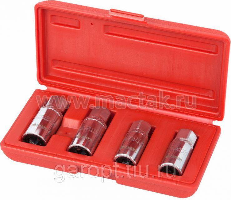 Набор шпильковёртов, 6, 8, 10, 12 мм, эксцентриковые, 4 предмета МАСТАК 109-20004
