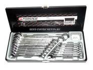 5161 Набор ключей комбинированных 6-19, 22, 24мм Forsage, 16 предметов в кейсе