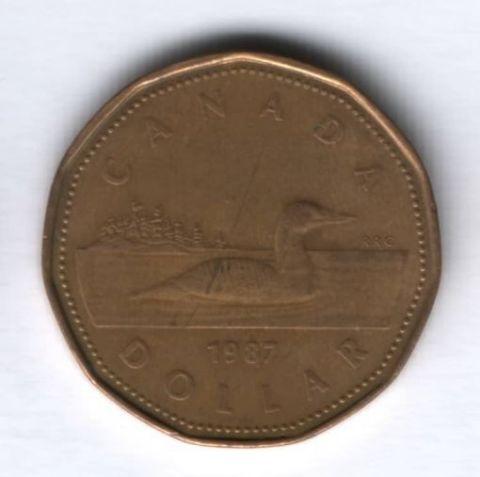 1 доллар 1987 г. Канада