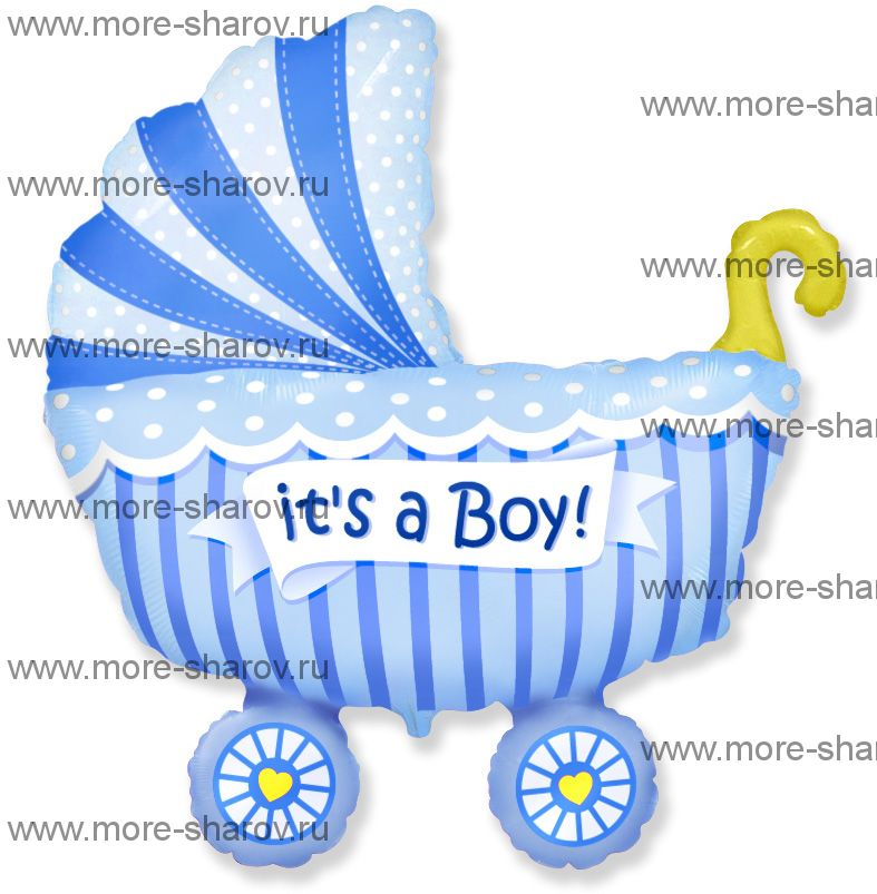 Шар коляска для мальчика 102 см