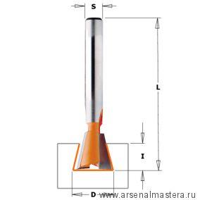 CMT 718.127.11 Фреза ласточкин хвост 14 гр. S6 D12,7x12,7