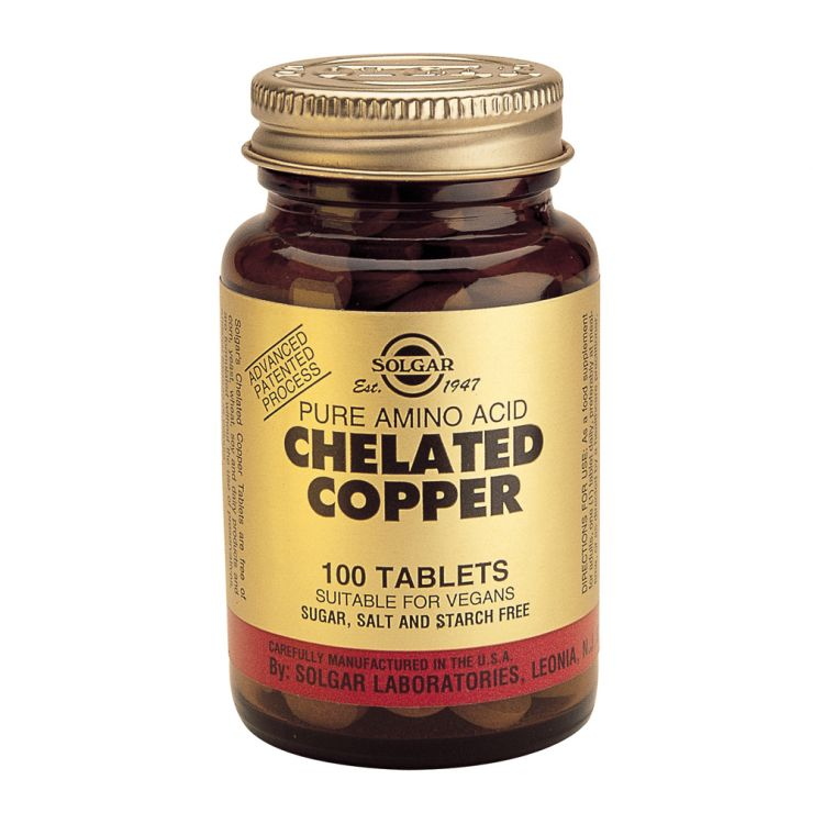Солгар Хелатная Медь Copper 2,5 мг. 100 табл.