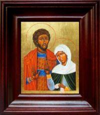 Адриан и Наталия (21х24), простой киот