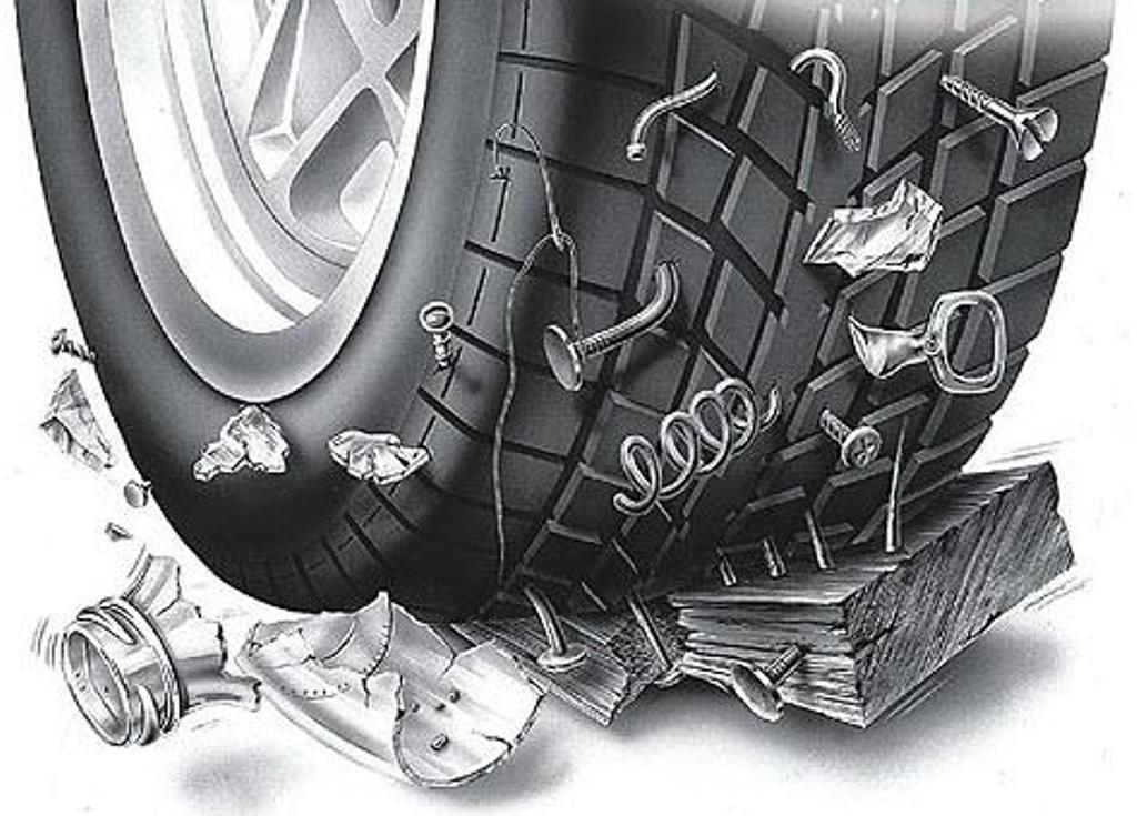 Установка жгута (ремонт шины)