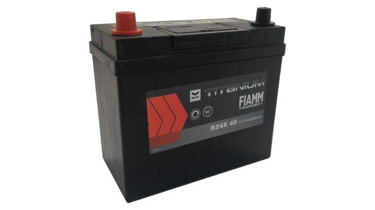Автомобильный аккумулятор АКБ FIAMM (ФИАММ) BLACK Titanium B24X45 45Ач П.П.